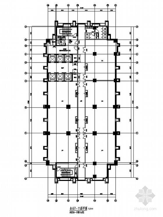 高层城市综合体建筑平面图