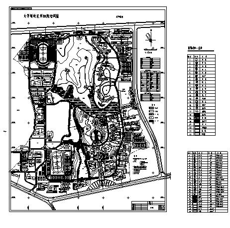 韦德娱乐1946老虎机_40套大学校园规划总平面图CAD方案图纸_3