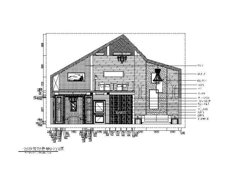 新中式-独栋别墅设计CAD施工图(含效果图)立面图