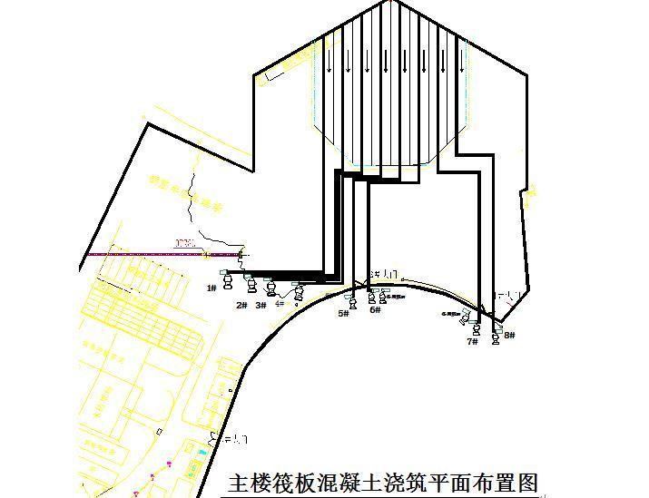 商业广场主楼筏板大体积混凝土施工方案