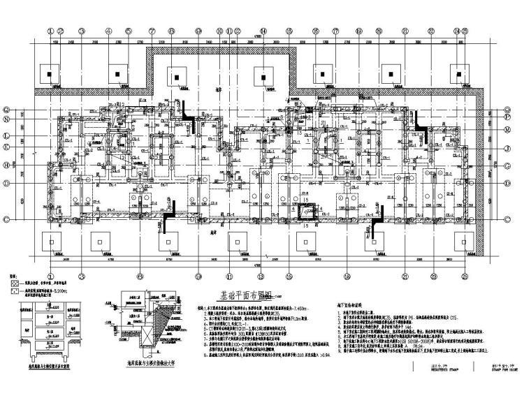 [安徽]34层剪力墙结构住宅楼结构施工图(地下二层)
