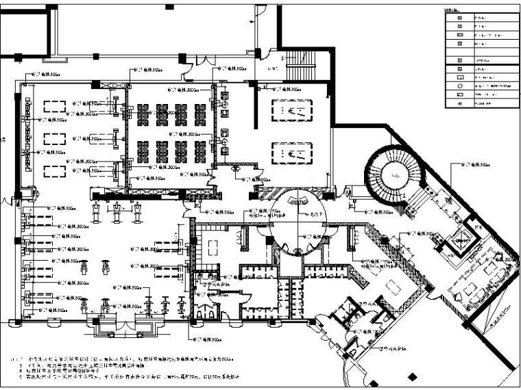 [新疆]欧式奢华高端会所室内设计施工图(含效果图)