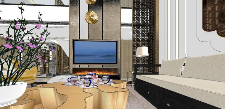 豪华loft室内设计客餐厅模型设计(2018年)-X 19