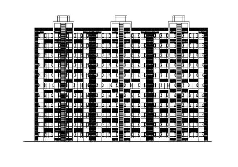 [宁夏]九层一梯三户塔式剪力墙住宅建筑施工图(含全专业图纸)