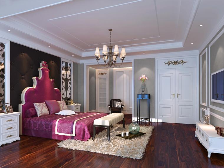 温馨浪漫卧室3D模型下载