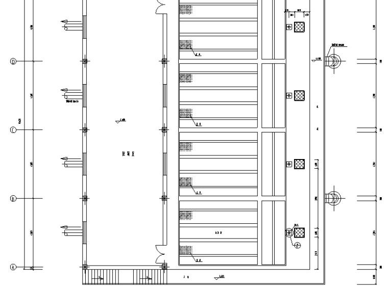 山西四万吨污水厂中水回用工艺图纸(CAD)