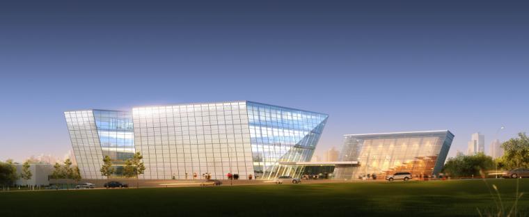 現代風格圖書館建筑設計方案文本+CAD+SU模型