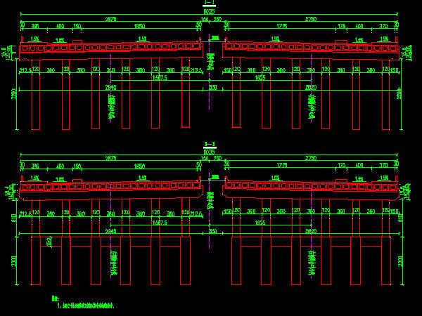 2016年设计跨河1-3x20m预应力空心板桥图纸62张CAD(先简支后连续,C50混凝土)
