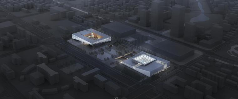 [安徽]某博物档案规划馆建筑方案设计(CAD+文本+视频)
