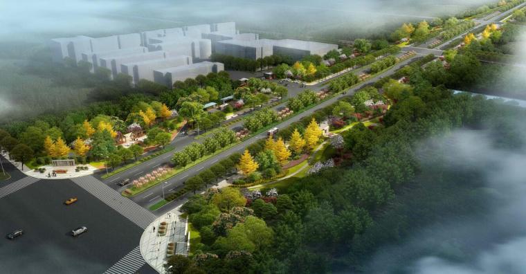 [海南]海宁市江南大道西延道路绿化设计方案文本(包含pdf+72页)