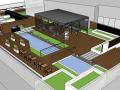 住宅屋顶花园庭院3d模型下载