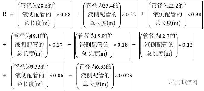 多联机制冷系统冷媒追加公式及标准_3