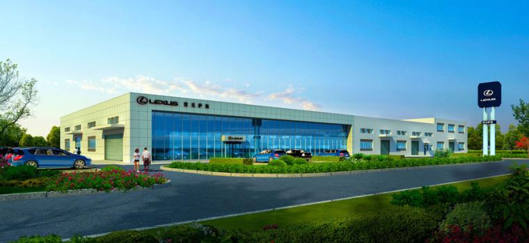 (原创)汽车4S店建筑外观设计案例效果图-4s店19