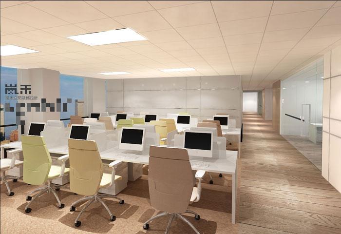 互联网金融公司办公室装修设计案例效果图-创意方案-