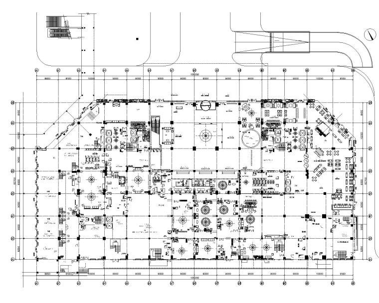 郑中(CCD)--广州白云万达希尔顿酒店公共区CAD施工图|效果图