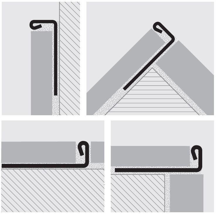 室内设计地板砖、墙砖、阳角、阴角收口细节图43P-收边