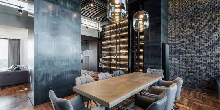 乌克兰超酷的工业风格现代住宅装修设计
