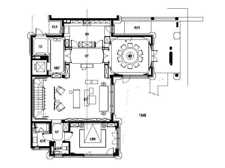 [北京]全套的简约风格别墅样板房设计施工图(实景图+深化方案)