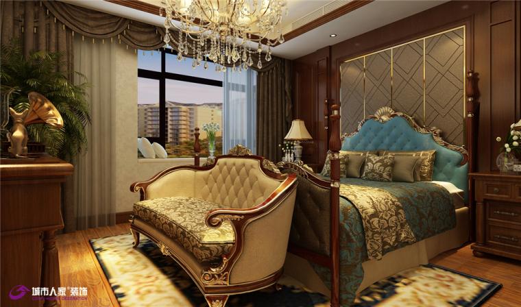 恒大滨河左岸美式奢华装修设计方案