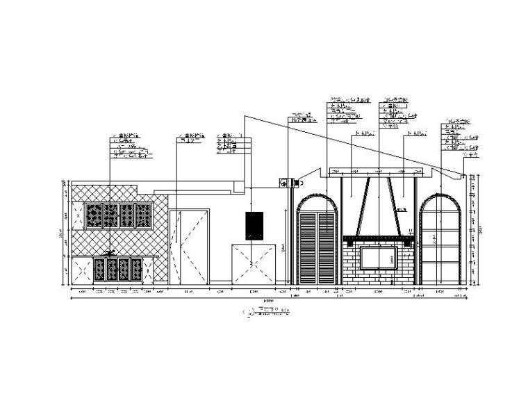 【贵州】地中海田园风格样板房设计CAD施工图(含效果图)_2