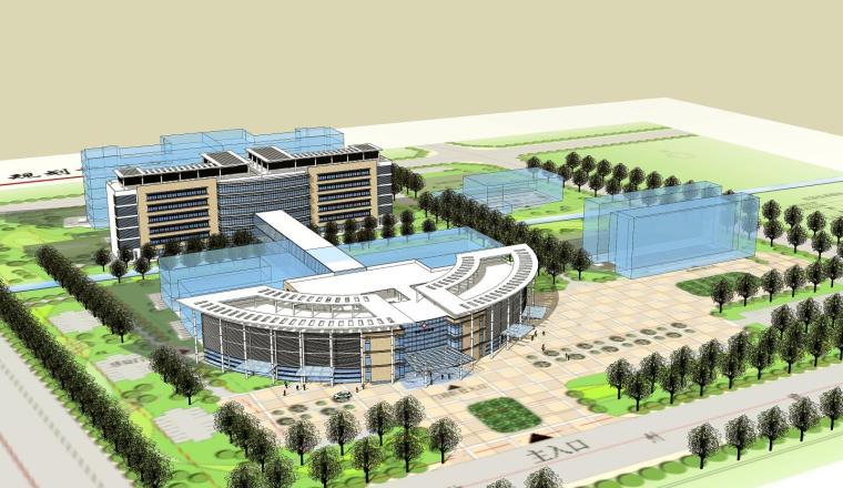 [江苏]某县医院方案规划设计(CAD+SU)