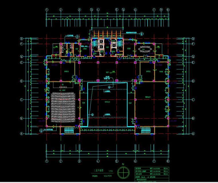 [山东]某地税局办公楼施工图设计(14个CAD+80张图)_5