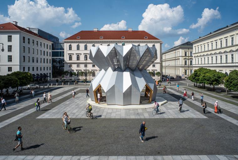 德国维特尔斯巴赫茨广场的亭子装置