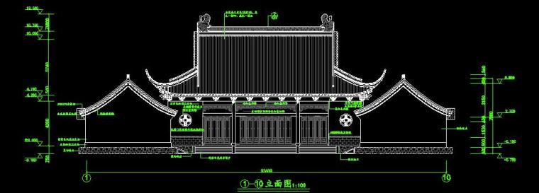 仿古建筑设计古风茶室建筑施工图