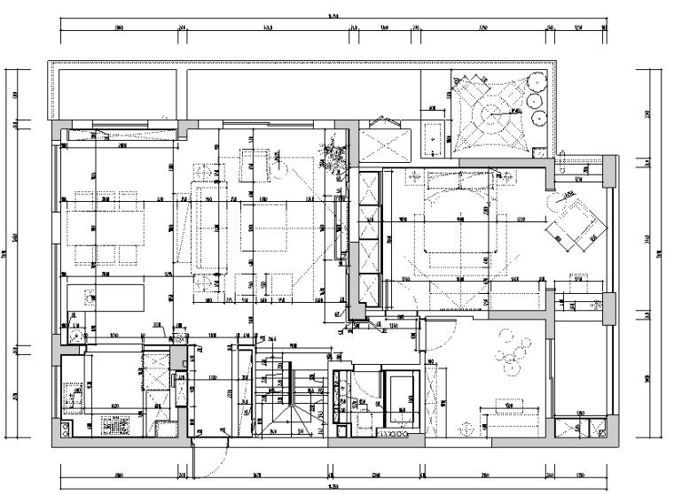 [浙江]港式风格住宅设计施工图(附效果图)