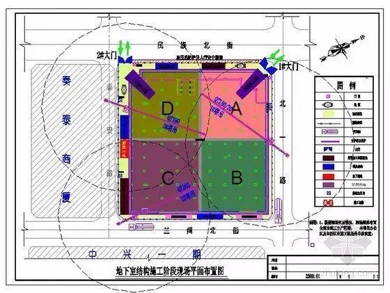 简单四步,教你如何绘制好施工现场总平面布置图!