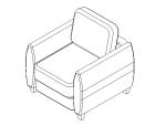 bim软件应用-族文件-沙发单人