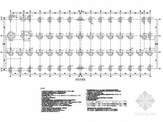 [温州]四层框架结构车间厂房结构施工图