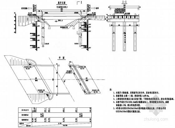 1x20m预应力后张法混凝土T梁桥设计套图(60张)