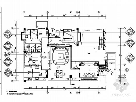[厦门]新中式雅致两层别墅施工图(含效果图)