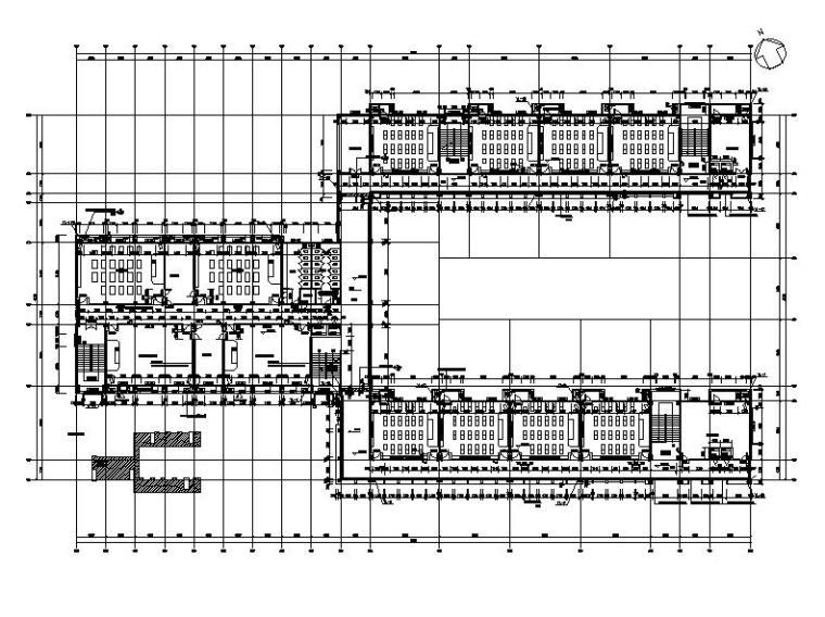 [浙江]五层长条形面砖外墙市级中学建筑施工图(含效果图)_9