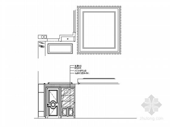 经典优雅两层别墅欧式风格装修图(含效果图) 立面图