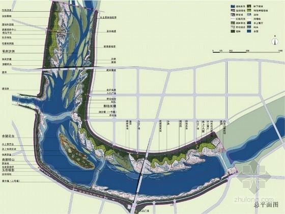 """[河北]""""都市后花园""""生态休闲小城河流景观工程设计方案(北京著名景观公司)"""