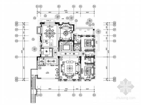 [成都]法式风格三层别墅装修设计概念方案