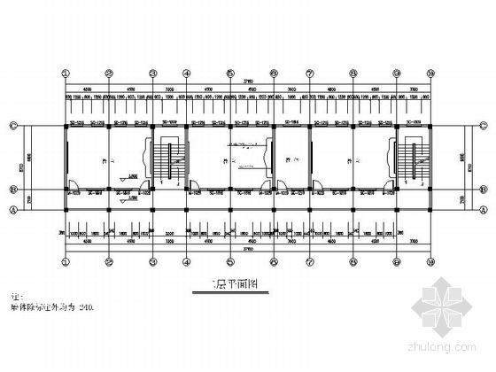 多层简洁初级中学教学楼及宿舍平面图