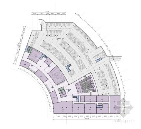 """[江苏]多层现代化""""盒子""""造型企业办公大楼建筑设计方案文本-多层现代化""""盒子""""造型企业办公大楼建筑平面图"""