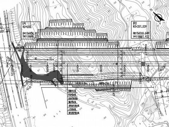 [江苏]城市主干路施工图设计58张(人行道 路基防护)