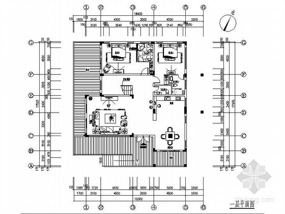 [三亚]简欧浪漫两层别墅样板房施工图