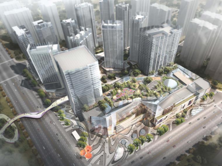 [四川]龙湖紫宸商业项目景观设计方案 A-1 鸟瞰