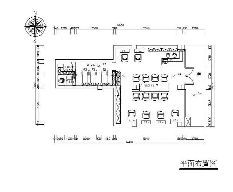 [杭州]工业风理发店设计施工图(含效果图)
