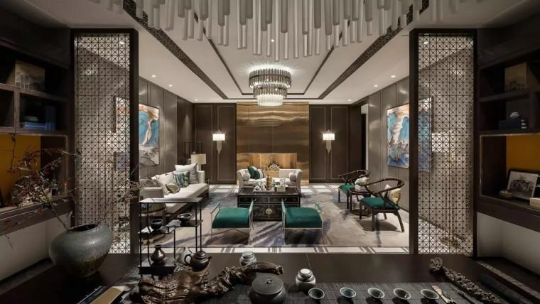 IDEAL艾迪尔设计-儒雅新中式住宅实景图