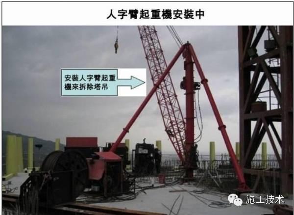 超高层巨型塔吊卸载全过程(内附多图),涨姿势!!