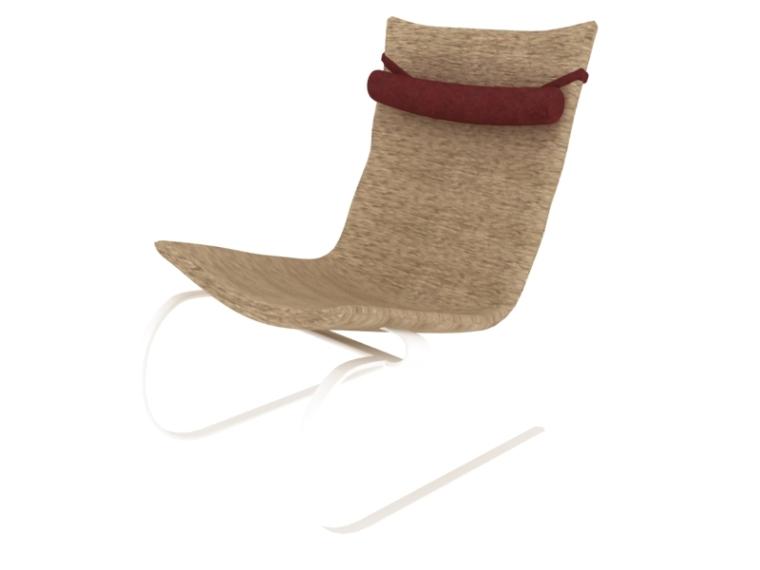 简约躺椅3D模型下载