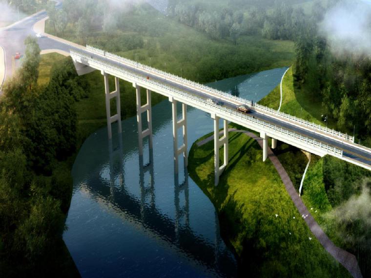[江苏]桥面连续6×20m后张法预应力空心板简支梁结构跨河桥设计图(附计算书)