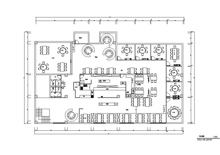 [河南]个性主题火锅店装修设计施工图(含效果图)