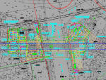 [知名大院]城际轨道交通车站四小件装饰设计图纸52张CAD(附钢雨篷及出入口顶盖计算书)